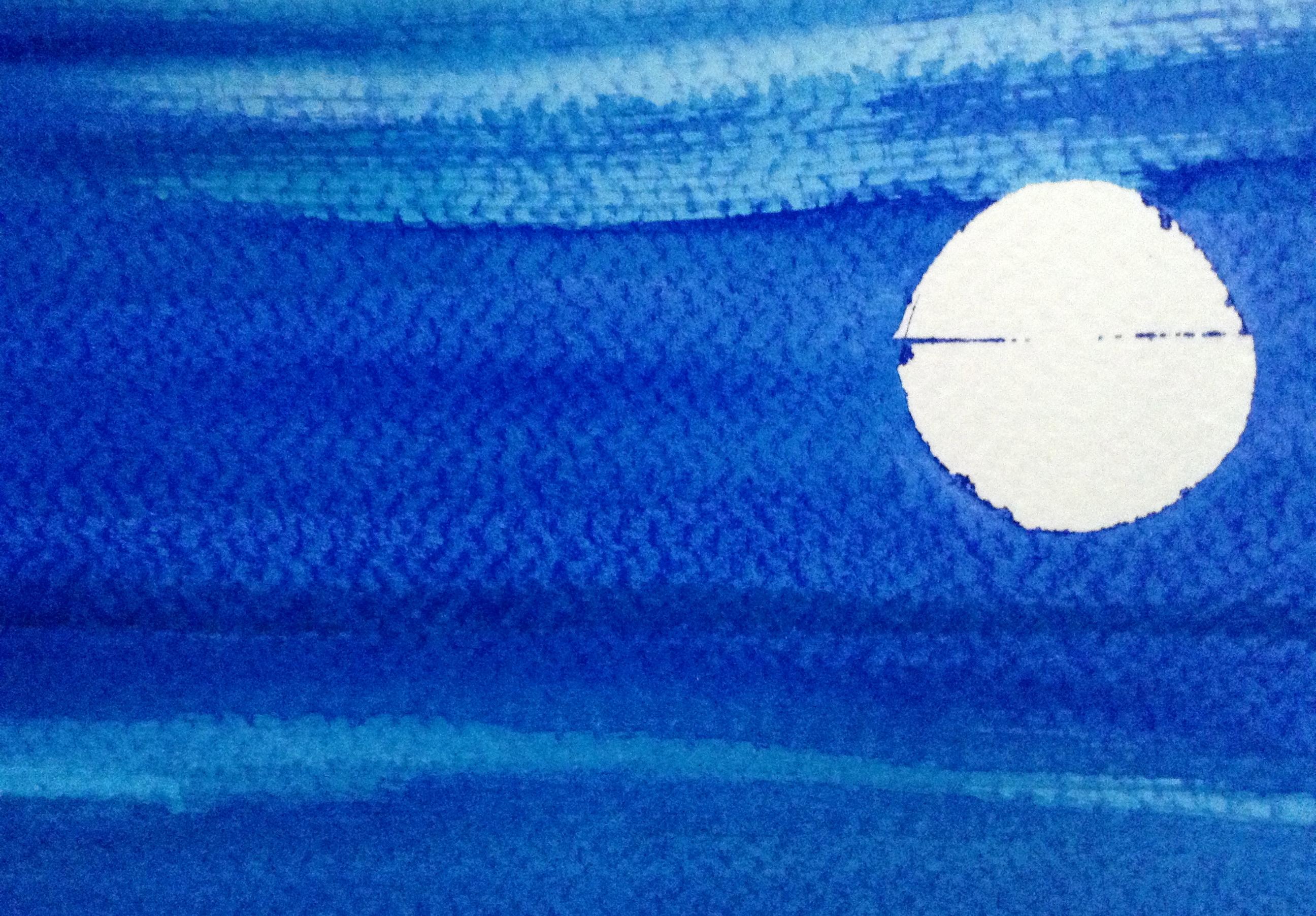 Full Moon 2014 watercolour