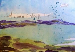 When I Sleep (postcard 2/3) 2013