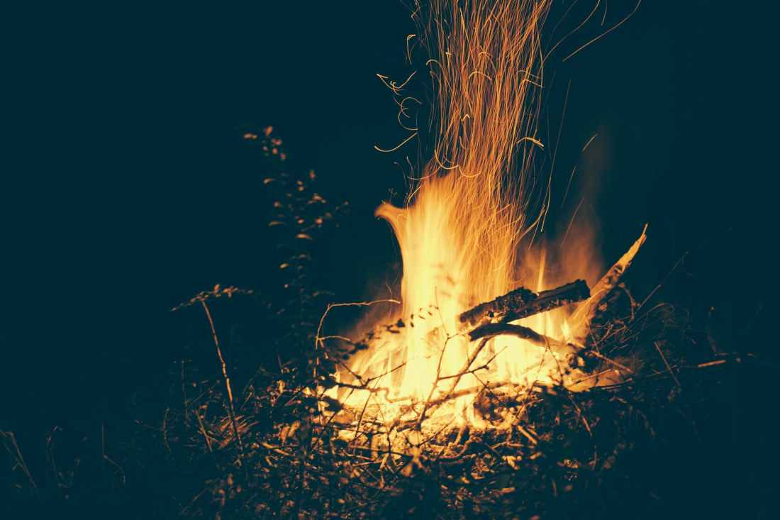 blaze bonfire burn campfire
